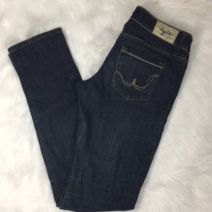 Tyte Juniors Denim Skinny Blue Jeans Size 7